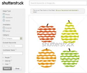 様式化されたフルーツのアイコン